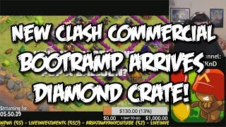 New Clash of Clans Commercial / Bootramp / Crate of Diamonds! - 24-Hour Stream Highlight!