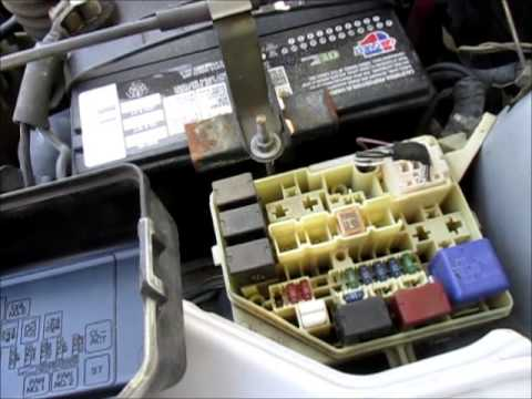 hqdefault replace ac relay in 2001 toyota echo youtube toyota echo fuse box at fashall.co