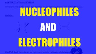 Nucleophiles and Electrophiles can react in Lewis Acid Base Reactions