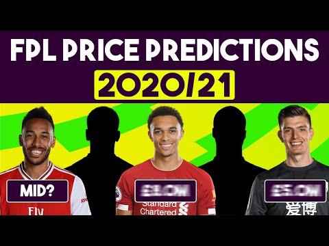 Price Predictions for Fantasy Premier League 2020/21