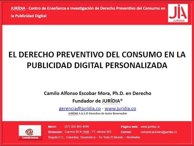 La Teoría de Derecho Preventivo del Consumo en la Publicidad Digital Personalizada ©