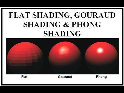 FLAT SHADING, GOURAUD SHADING & PHONG SHADING