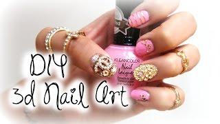 DIY 3D Nail Art | $1 ShopMissA.com | Belinda Selene