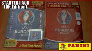 UNBOXING STARTER PACK ⚽️ panini UEFA EURO 2016 France Sticker Collection ⚽️ Opening & Review