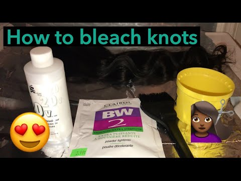 How to bleach knots on a lace closure 💇🏾♀️‼️