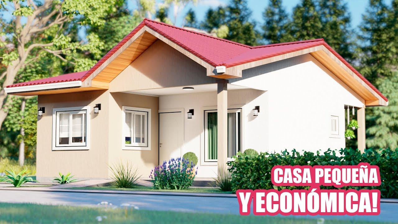 ✅ Bonita Idea de Plano de Casa Pequeña y Económica