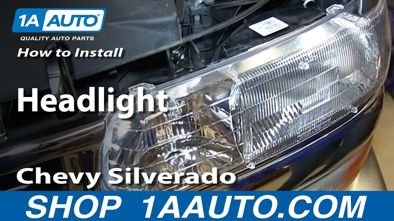How To Install Replace Headlight 1999 06 Chevy Silverado