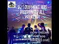 DJ Equipment hire discounted all weekend!