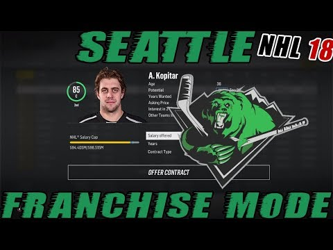 "NHL 18: Seattle Franchise Mode #27 ""Anze Kopitar"""