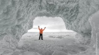 Lake Michigan ... ice cave exploring