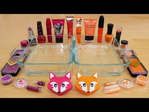 Rose vs Orange - Mixing Makeup Eyeshadow Into Slime Special Series 160 Satisfying Slime Video thumbnail