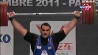 2011 Paris World Weightlifting Championships +105 Kg Snatch.avi