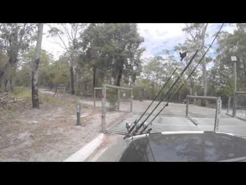 Leaving Kingfisher Bay Resort Fraser Island Driving Through Fraser Island.