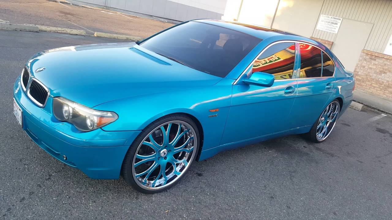03 745li Outrageous Candy Paint 24s Ashantis Custom Inter9 Youtube