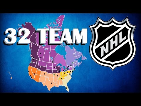 32 Team NHL Expansion And Realignment Proposal