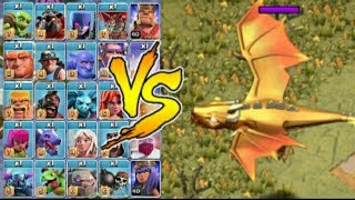 Golden Dragon vs all clash of clans troops/new goblen maps game play