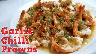 Spicy Garlic Chilli Prawns Recipe - Yum It