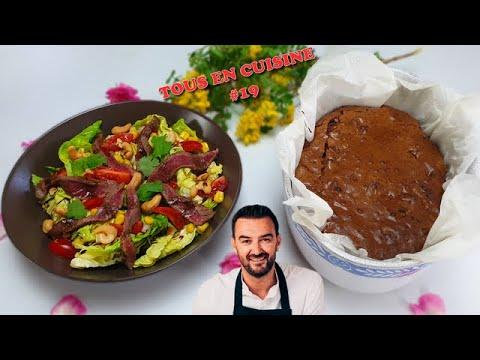 tous-en-cuisine-#19-:-je-teste-la-salade-de-bŒuf-marinÉ-et-le-brownie-noix-pÉcan-de-cyril-lignac-!