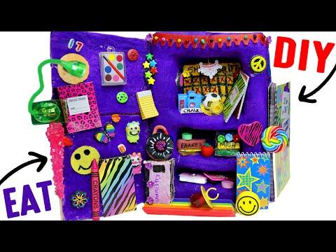 DIY Edible School Locker   EAT Locker Decor, Combination Lock, Books &  Back To School Supplies!