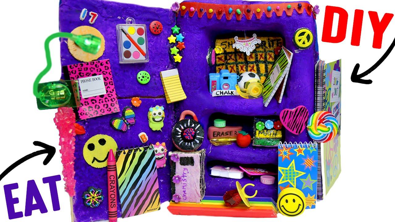 DIY Edible School Locker EAT Locker Decor Combination Lock - Cute diy school locker ideas