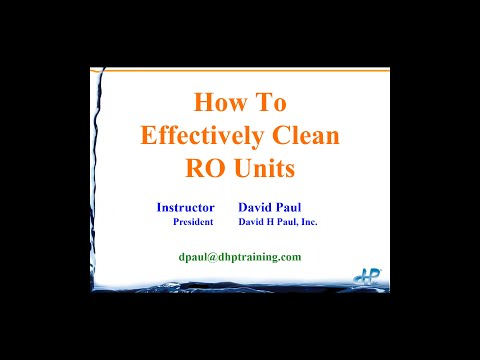 How to Effectively Clean RO Units