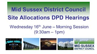 Site Allocations DPD - Examination Hearing Sessions  The agenda and participant statements are av...