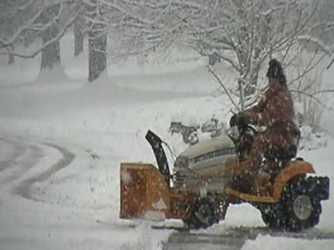 Cub Cadet With 2 Stage Snow Blower On Very Heavy Snow
