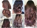 Top-25 Chocolate Mauve Balayage Ideas - Winter Hair Color Trend for 2018\2019