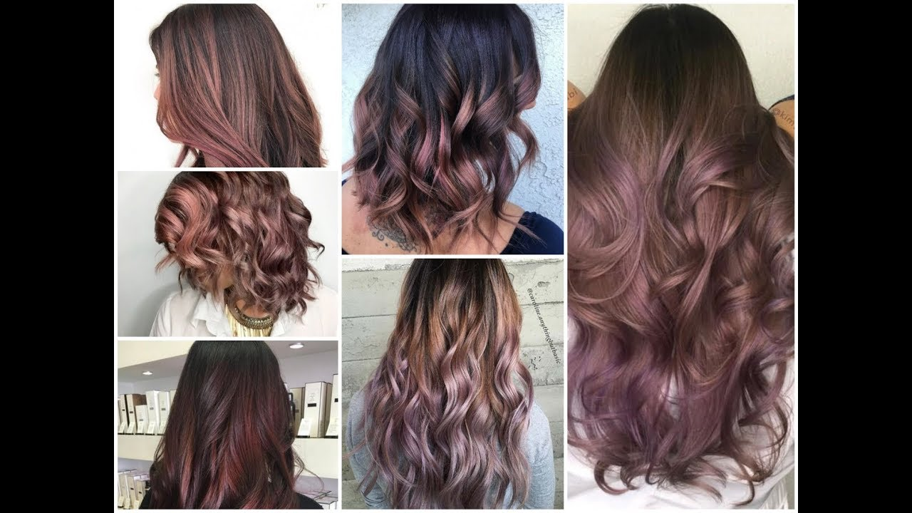 Top 25 Chocolate Mauve Balayage Ideas Winter Hair Color Trend For 2018 2019