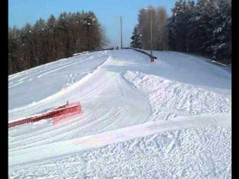 Wintertime, skiing at Helsinki -Paloheinä