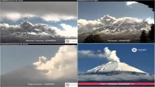Popocatepetl - 20160106 - 10:55 a 16:35 hrs