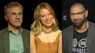 Christoph Waltz, Dave Bautista and Lea Seydoux Talk 'Spectre' Casting