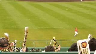 阪神タイガース2017/原口文仁 新応援歌 今年はじめての甲子園(2017.03.05)
