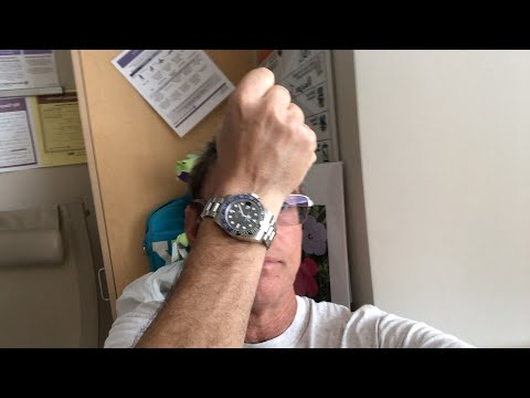 Marc Goldberg live in the hospital asks: Should I polish the Batman Rolex GMT BLNR?