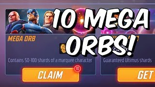 10x Mega Orb Opening! + Updated Mystic Team Gameplay!! - Marvel Strike Force