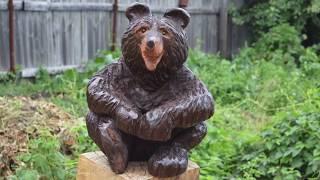 МЕДВЕЖОНОК - МАСТЕР КЛАСС ! Скульптура из дерева!