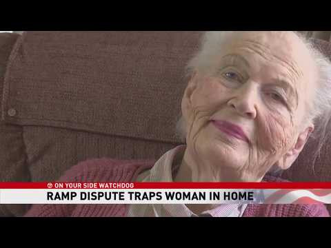 91-year-old woman told to tear down wheelchair ramp