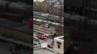 ДТП: Три автомобиля на 50 лет ВЛКСМ, перевертыш, улетели в теплотрассу