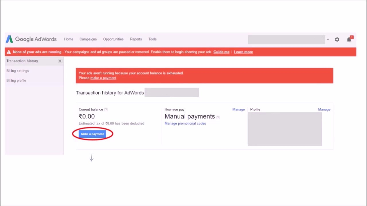 How To Transfer Money In Google Adwords Account Run Your Ads