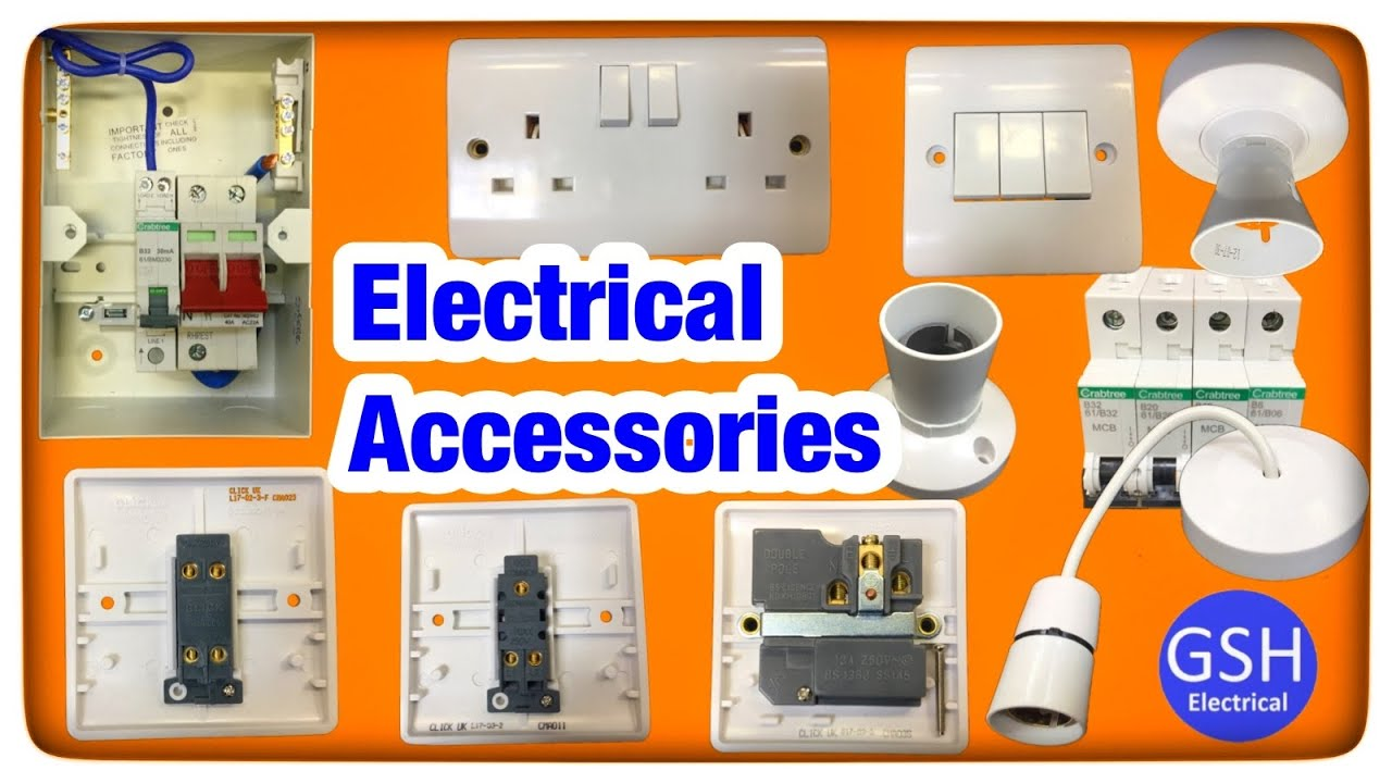Identify Basic Electrical Accessories Like 1 Way 2 And Crabtree Wiring Intermediate Switch Socket Outlets