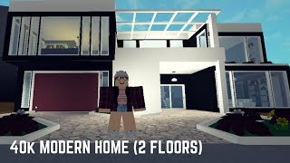 Roblox: Welcome to Bloxburg | 40K Modern Home (2 Floors!)