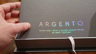 Suit € 6000 Argento Super 200's Suiting With A Silver Shield Finish