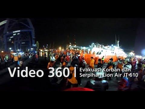 Video 360 | Evakuasi Korban dan Serpihan Lion Air JT 610 di JICT