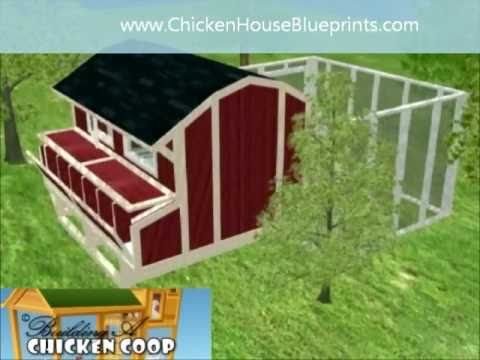 Chickencoop plans 3d chicken house blueprints how to for Build your own 3d house