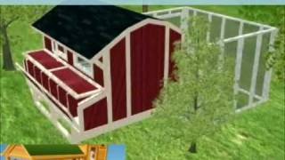 Chickencoop Plans - 3D Chicken House Blueprints - How to Build your own Chicken Coop