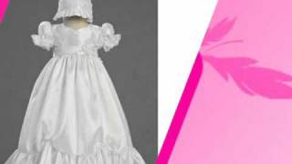 Taffeta Christening Gown with Lace Accents