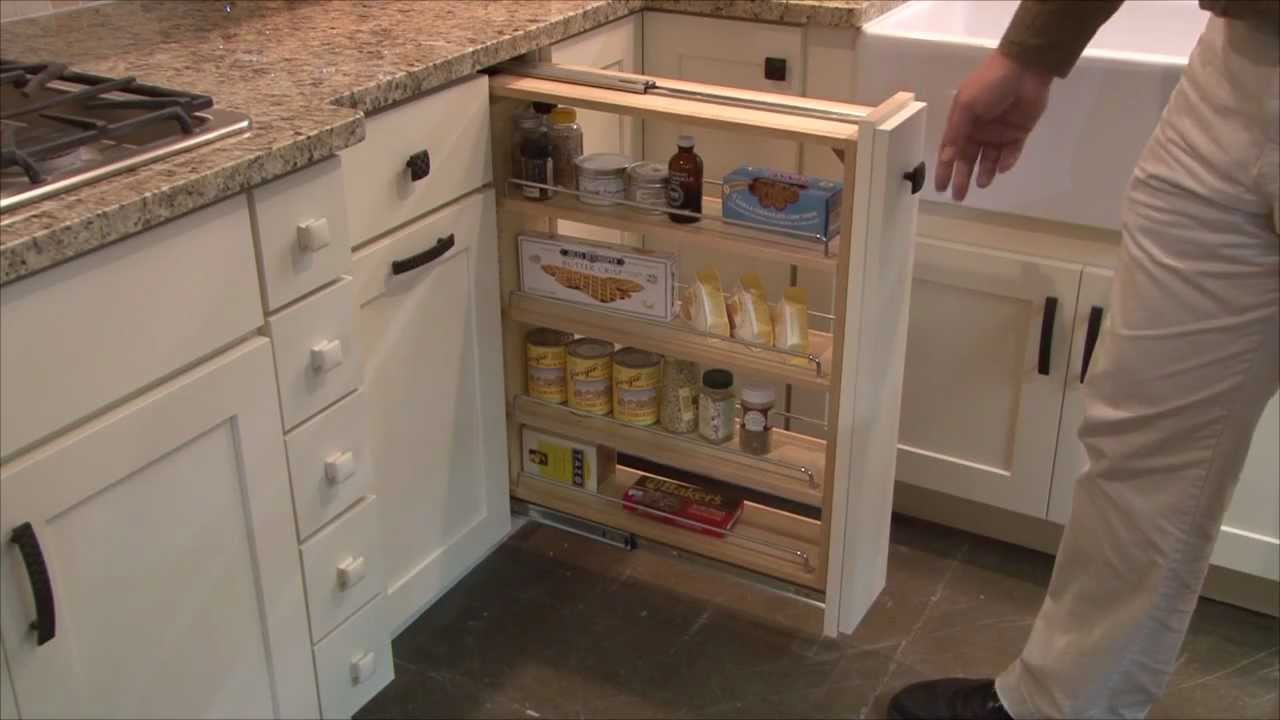 pull out kitchen cabinet red chairs storage organizer by cliqstudios com youtube