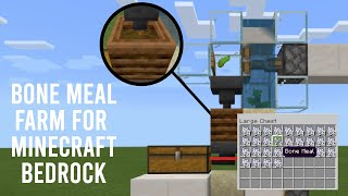 Automatic Mob Free Bone Meal Farm For Minecraft Bedrock [ Tutorial ]