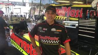 J.R. Todd thanks the SealMaster Franchisees after Sonoma win