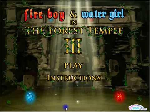 Fire Boy and Water Girl  - The forest temple 3 (Full Game)